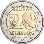 2 euro commémorative Luxembourg 2017