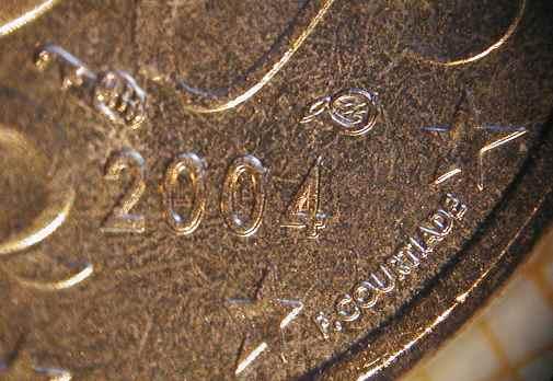 5c France 2004 avec différents & signature