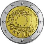 2€ commémorative commune des 30 ans du Drapeau Européen Chypre 2015