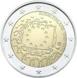 2€ commémorative commune des 30 ans du Drapeau Européen Finlande 2015