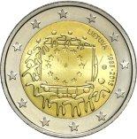 2€ commémorative commune des 30 ans du Drapeau Européen Lituanie 2015